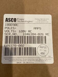 New Factory Sealed 108D90C Asco Relay Control Panel 120V Output OEM