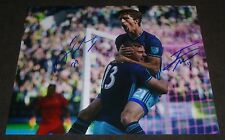 JORDAN MORRIS & ALVARO FERNANDEZ SIGNED 8x10 inch PHOTO SEATTLE SOUNDERS FC MLS