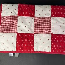 Gymboree Baby Blanket Red White Blue Bandana Gingham Cotton Patchwork Quilt 2001