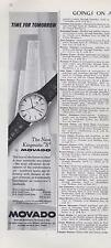 "1962 Movado Watch PRINT AD features the New Kingmatic ""S"" great documenting ad"