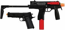 RED JACKET AIRSOFT FULL AUTO MP9 AEG and 1911 STARTER TOYS 200+ FPS!