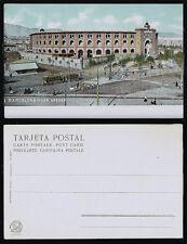 1050.-BARCELONA -1017 Las Arenas (Postal sin división) (Autocromo Thomas)