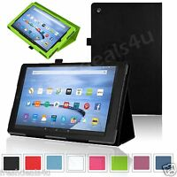 NEW LEATHER CASE COVER FOR AMAZON KINDLE FIRE 7, FIRE HD 8, FIRE HD 10