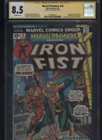 Marvel Premiere #16 CGC 8.5 SS Len Wein 1974 Iron Fist 1st appearance LEI KUNG