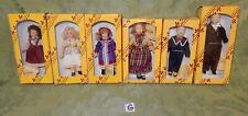 6 Del Prado Miniature Dolls House Dolls Children in Victorian Costumes  (G)