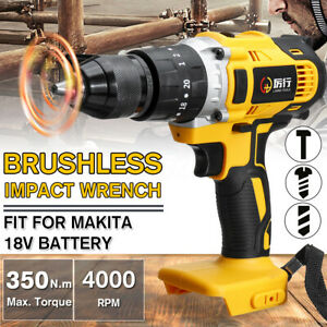 3in1 350N.m Electric Torque Impact Wrench Brushless 1/2'' for 18V Makita Battery