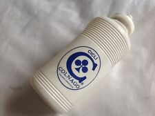 COLNAGO BLUE LOGO 1970s VINTAGE - WHITE WATER 500ml BOTTLE - NEW OLD STOCK