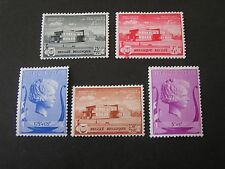 *BELGIUM, SCOTT # B273-B276(4)+B278,1939 SEMI POSTAL MUSIC FOUNDATION ISSUE MH