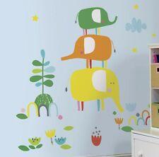 ZUTANO ELEPHANTASIA GiAnT Wall Decals Elephant room decor Stickers Orange Green