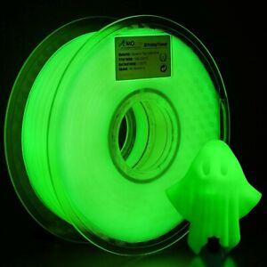 AMOLEN PLA 3D Printer Filament, 1.75mm, Glow in The Dark Green 1 kg Spool 1KG