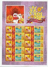 China Macau 2015 Greeting Festivity Special Stamps Mini Sheet Dragon Lion 喜慶