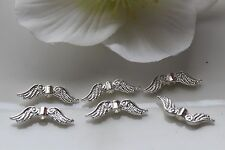 100-500 Angel Wings Beads Spacer silver bright 24 mm Large quantity