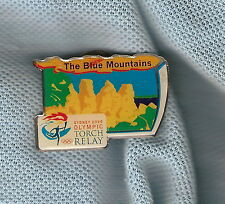 SYDNEY OLYMPIC TORCH RELAY PIN - BLUE MOUNTAINS, THREE SISTERS