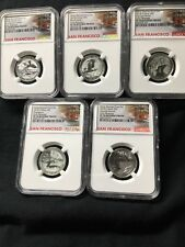 2018-S 25C Silver REVERSE Proof Quarter Set NGC PF70 Early Releases 5 Coins ATB