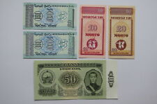 Mongolia 50 Tugrik1966 + 4 Other Banknotes All Unc B27 Blei - 29