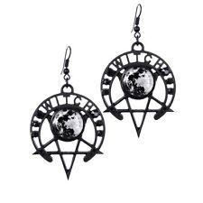 Restyle Strega Luna Stella Pentagramma Simbolo Nero occulto Strega Orecchini