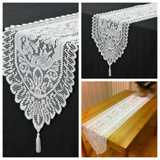 """13""""x71"""" White Christmas Table Runner Vintage Lace Table Decoration Home Party"""