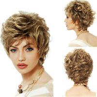 Blonde Wigs for Women Short Curly Wig Full Synthetic Hair Wigs Cosplay Party Wig