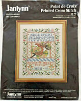 Janlynn Counted Cross Stitch Kit 09-73 Dove Sampler Finished Size 11X14 Opened