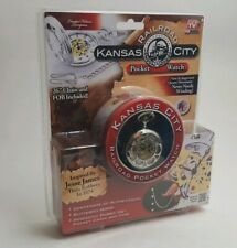 Collectible Seen on TV Silver Kansas City Railroad Pocket Watch  Antique Style