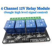 (US) Development Board Electronic Transport 4-Channel 12V Relay High Level