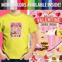 Peanuts Be My Valentine Charlie Brown Snoopy Love Unisex Kids Tee Youth T-Shirt