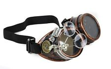 Steampunk Victorian Shotgun Shell Welding Copper Goggles Scissors Lens Cosplay