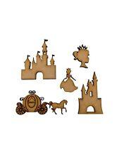 20x Princess Carriage Castle 5cm Wood Craft Embelishments Laser Cut Shape MDF