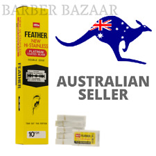 Feather New Hi-Stainless Platinum Coated Double Edge Razor Blades | AUS SELLER