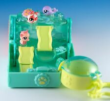 Littlest Pet Shop 3 Teensies Fish, Seahorse, Whale With Aquatic Playset House