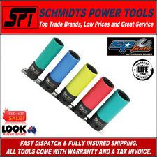 "SP TOOLS SP20390 1/2"" DEEP METRIC WHEEL NUT IMPACT SOCKET SET 5PC SET W/ RAIL"