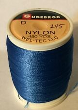 Gudebrod Nylon Thread Royal Blue #245 Size D Rod Building 450 Yd 1 Oz ProSpool