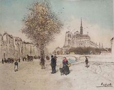 Original Colored Etching by Jean François Raffaëlli (France 1850-1924)
