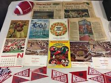 60's and 70's Nebraska Cornhuskers Vintage Football Programs And Other Items