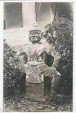 BM372 Carte Photo vintage card RPPC Indochine sculpture temple