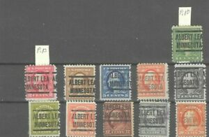 JimbosStamps, U.S.precancels,1917 Wash. Frank. iss. , ALBERT LEA  MINNESOTA