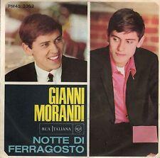 disco 45 GIRI Gianni MORANDI NOTTE DI FERRAGOSTO - POVERA PICCOLA (1)