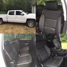 2014 2015 2016 2017 2018 Silverado Lt Crew Cab Katzkin Black Leather Seat Covers