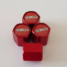 RS RENAULT SPORT RED Wheel Valve Dust Caps EXCLUSIVE TO US ALL MODELS