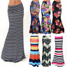 Womens Boho High Waist Evening Party Floral Wrap Dress Stretchy Tube Full Skirt
