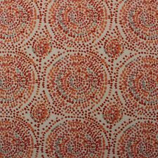 "DURALEE GLIMPSE TANGELO ORANGE RED ALHAMBRA ABSTRACT LINEN FABRIC BY YARD 54""W"