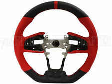 Buddy Club Leather Sport Steering Wheel for 17-19 Honda Civic Type-R FK8