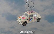 '67 VW Bug Flower Power Love Peace Hippie Volkswagen Beetle Christmas Ornament