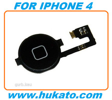 100% Brand New Home Key Button Flex Replacement for Apple iPhone 4 Black