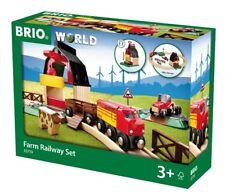 33719 Brio Farm Railway Set.  Wooden Railway