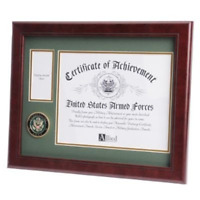 U.S. Army Medallion Certificate and Medal Frame By Veterans