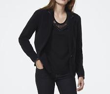 IKKS Women's Fleece Jacket, Black, Sz.42/L