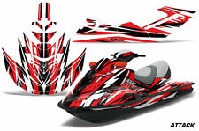 AMR Racing Jet Ski Graphics Wrap Sea Doo RXT Decal Kit 2005-2009 ATTACK RED