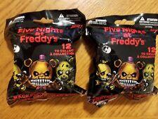 Lot of 2 Five Nights at Freddy's Series 2 Random Blind Bag Backpack Hangers New