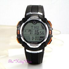 Omax Waterproof 10 Bar Gents Ladies Unisex Chronograph Sports Alarm Orange Watch